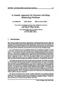 A Genetic Approach for Dynamic Job-Shop Scheduling ... - CiteSeerX