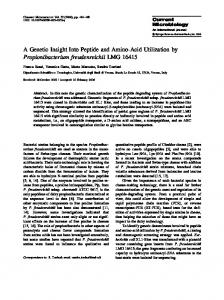 A Genetic Insight Into Peptide and Amino-Acid ...