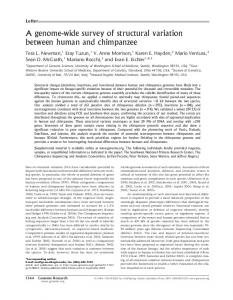 A genome-wide survey of structural variation between human ... - UniBa