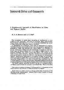 A Geotaxonomic Approach to Classification in ... - Wiley Online Library