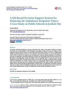 A GIS-Based Decision Support System for Reducing Air Ambulance ...
