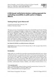 A GIS-based multicriteria decision making approach for evaluating ...