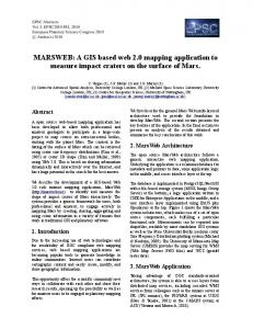 A GIS based web 2.0 mapping application to measure