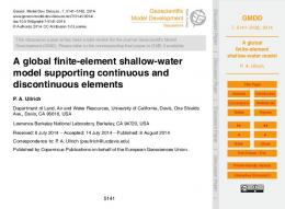A global finite-element shallow-water model