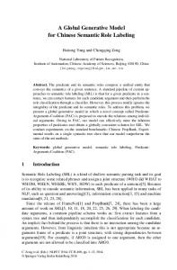 A Global Generative Model for Chinese Semantic ... - Semantic Scholar