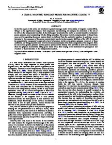 a global magnetic topology model for magnetic clouds. iv. - IOPscience