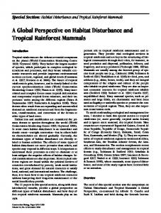 A Global Perspective on Habitat Disturbance ... - Wiley Online Library