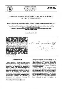 a green catalyst for synthesis of bis ... - Revue Roumaine de Chimie