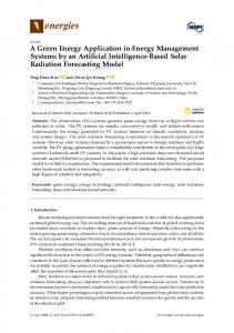 A Green Energy Application in Energy Management Systems by an ...