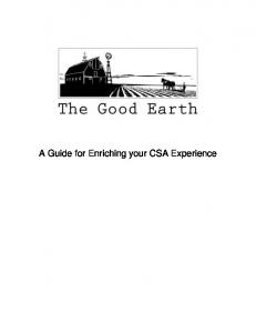 A Guide for Enriching your CSA Experience - The Good Earth