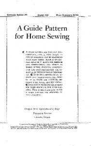 A Guide Pattern for Home Sewing