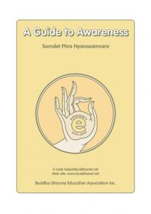 A Guide to Awareness - BuddhaNet