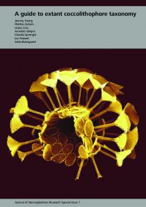 A guide to extant coccolithophore taxonomy - International ...
