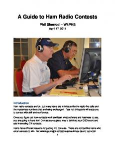 A Guide to Ham Radio Contests