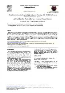 A Guideline for Product-Service-Systems Design ... - CyberLeninka