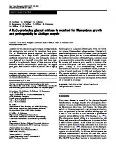 A H2O2-producing glyoxal oxidase is required for ... - CiteSeerX
