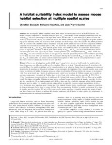 A habitat suitability index model to assess moose habitat selection at ...