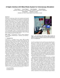 A Haptic Interface with Motor/Brake System for ... - Infoscience - EPFL