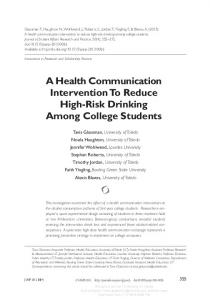 A Health Communication Intervention To Reduce ...
