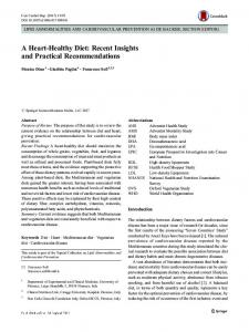A Heart-Healthy Diet: Recent Insights and Practical ... - Springer Link