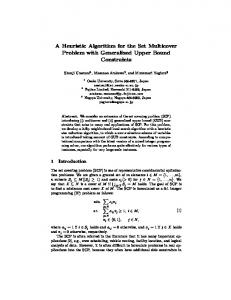 A Heuristic Algorithm for the Set Multicover