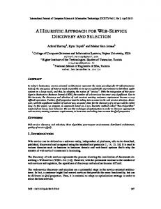 a heuristic approach for web-service discovery and