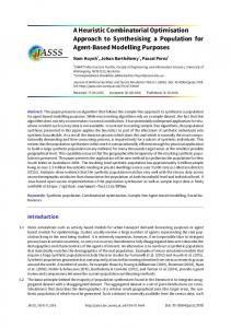 A Heuristic Combinatorial Optimisation Approach to Synthesising a ...