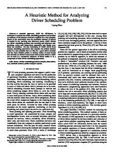 A Heuristic Method for Analyzing Driver Scheduling Problem