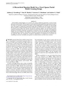 A Hierarchical Bayesian Model for a Novel Sparse Partial ... - Genetics