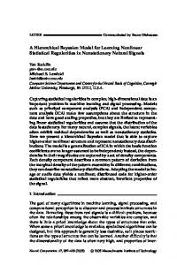 A Hierarchical Bayesian Model for Learning Nonlinear Statistical ... - yan