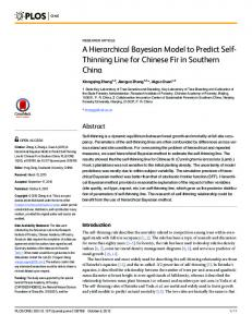 A Hierarchical Bayesian Model to Predict Self-Thinning Line for ...