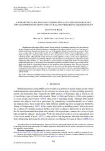 a hierarchical bayesian multidimensional scaling ... - Springer Link