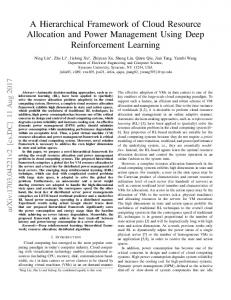 A Hierarchical Framework of Cloud Resource Allocation and ... - arXiv