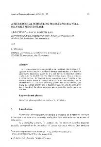 A hierarchical scheduling problem with a well-solvable second stage