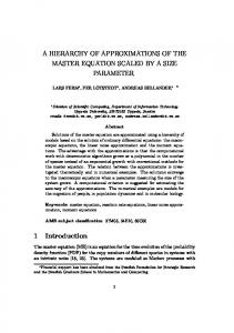 A HIERARCHY OF APPROXIMATIONS OF THE ... - Uppsala University