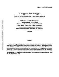 A Higgs or Not a Higgs? What to Do if You Discover a New Scalar ...