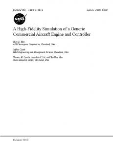 A High-Fidelity Simulation of a Generic Commercial Aircraft Engine ...