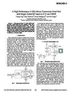 A High Performance 2-GHz Direct-Conversion ... - Integrand Software