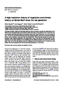 A high-resolution history of vegetation and climate ...