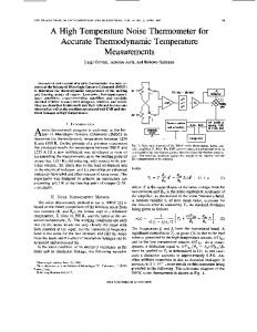 A high temperature noise thermometer for accurate ... - IEEE Xplore