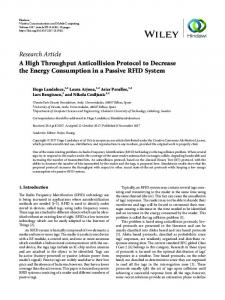 A High Throughput Anticollision Protocol to Decrease the Energy ...