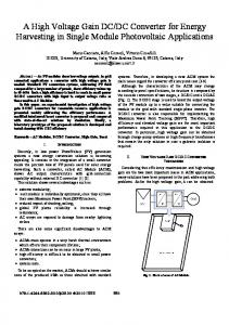A High Voltage Gain DC/DC Converter for Energy ... - IEEE Xplore
