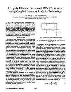 A Highly Efficient Interleaved DC-DC Converter using ... - IEEE Xplore