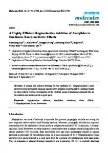 A Highly Efficient Regioselective Addition of