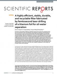A highly efficient, stable, durable, and recyclable ... - Semantic Scholar