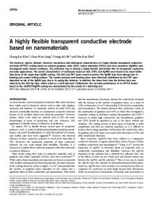 A highly flexible transparent conductive electrode based on ... - Nature