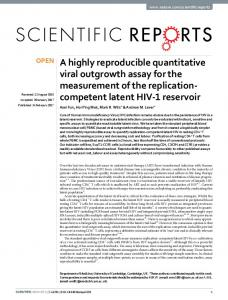 A highly reproducible quantitative viral outgrowth