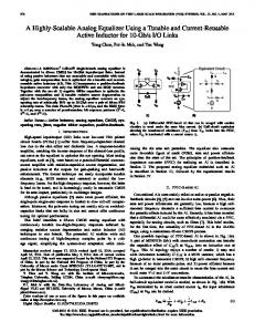 A Highly-Scalable Analog Equalizer Using a Tunable ... - IEEE Xplore