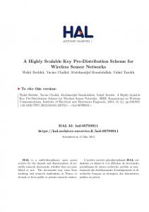 A Highly Scalable Key Pre-Distribution Scheme for Wireless ... - Hal