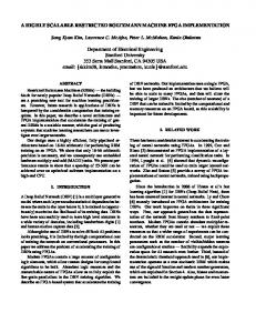 A HIGHLY SCALABLE RESTRICTED BOLTZMANN ... - Stanford PPL